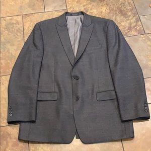 Men's Calvin Klein Grey 100% Wool Sportscoat 44L